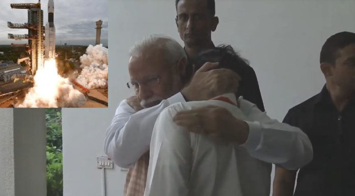 Chandrayaan-2 PM Modi hugs an emotional ISRO