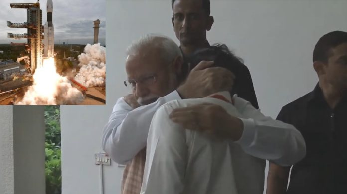 Chandrayaan-2 PM Modi hugs an emotional ISRO