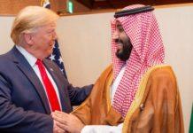 Trump with Saudi Arabia