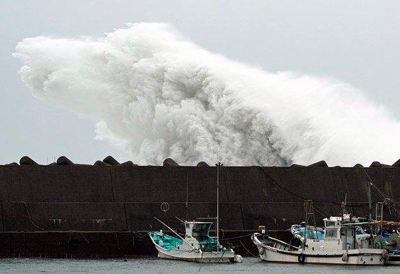 the most powerful typhoon in decades Japan