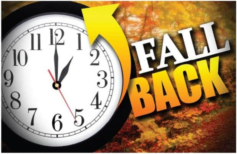 Daylight savings fall 2019