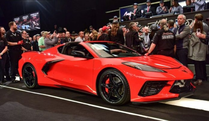 First 2020 Chevrolet stingray auctioned