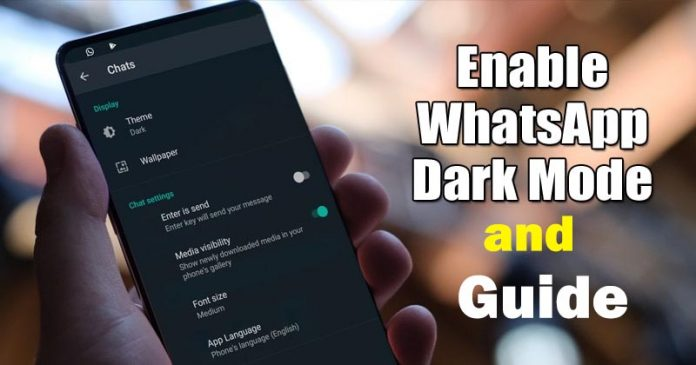 How to enable WhatsApp Dark Mode