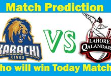 Lahore Qalandars vs Karachi Kings who will win