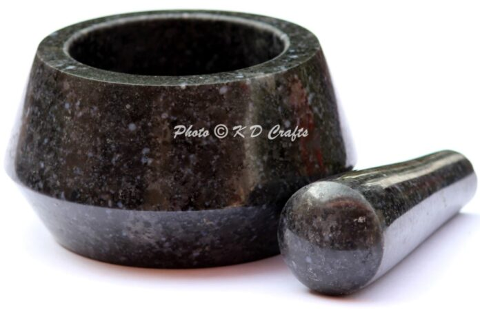 Unique Marble Mortar Pestle